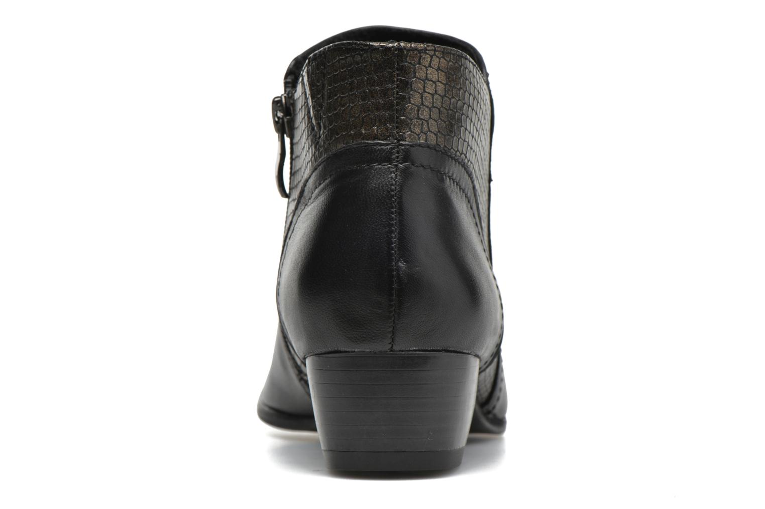 Ankle boots Caprice Bhuma Black view from the right