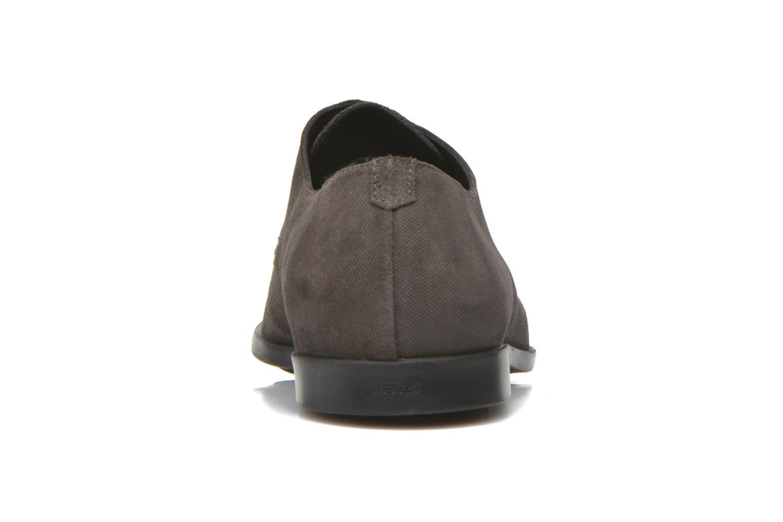 Zapatos con cordones Kenzo Justicier Gris vista lateral derecha
