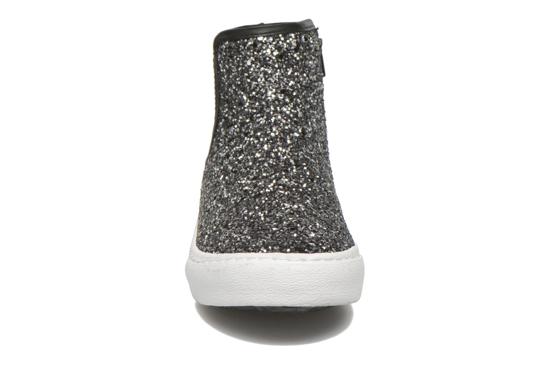 Baskets Gioseppo Burning Argent vue portées chaussures