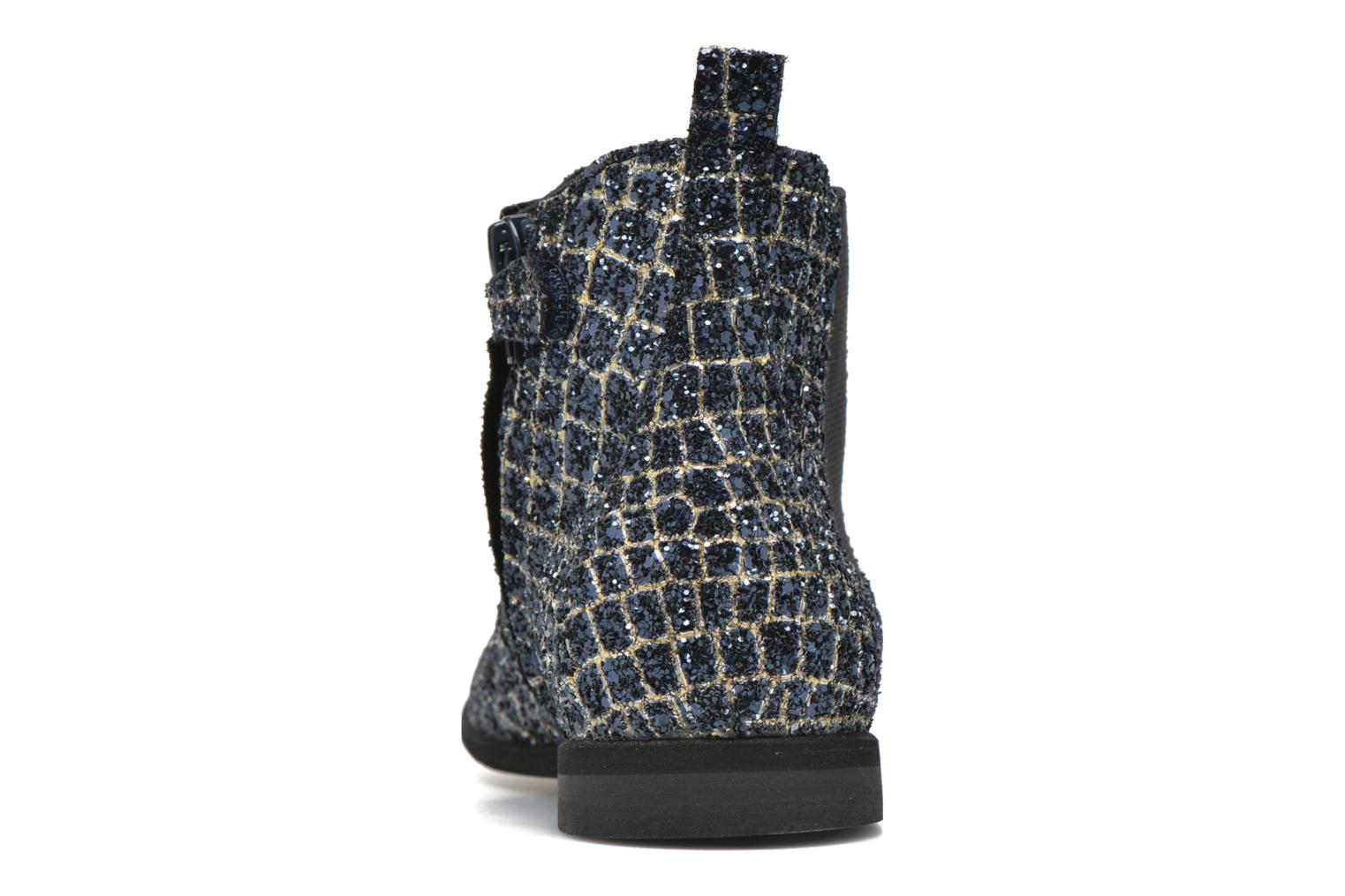 Ankle boots Manuela de Juan Constance 3 Blue view from the right