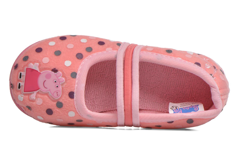 Hausschuhe Peppa Pig Linda rosa ansicht von links