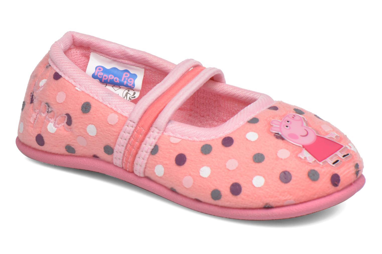 Pantuflas Peppa Pig Linda Rosa vista de detalle / par