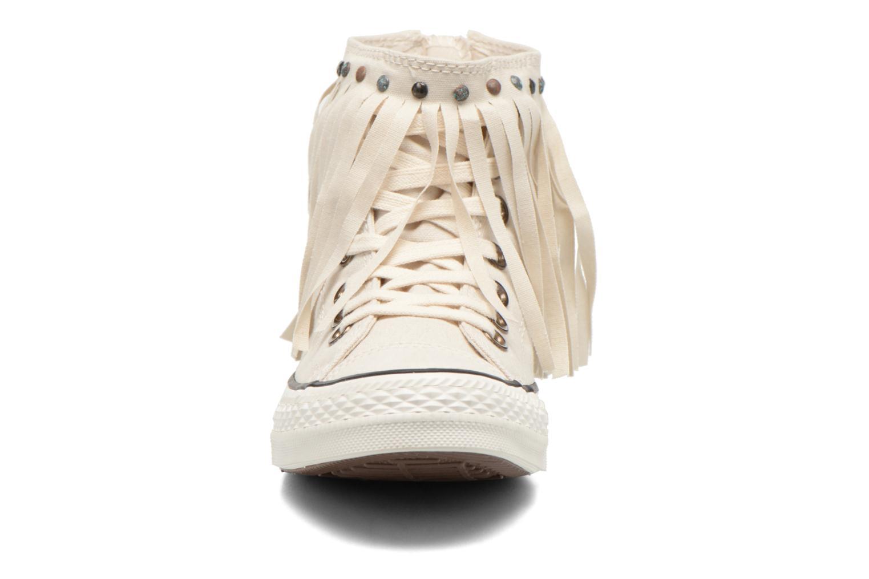 Sneaker Converse Chuck Taylor All Star Fringe Hi W beige schuhe getragen
