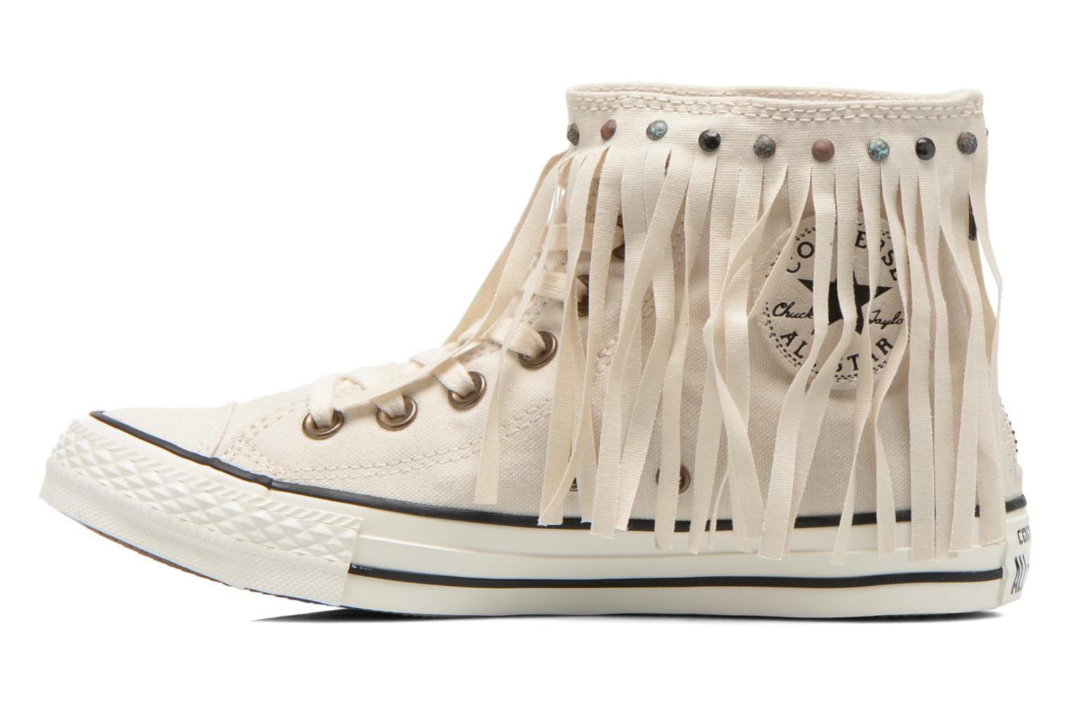 Baskets Converse Chuck Taylor All Star Fringe Hi W Beige vue face