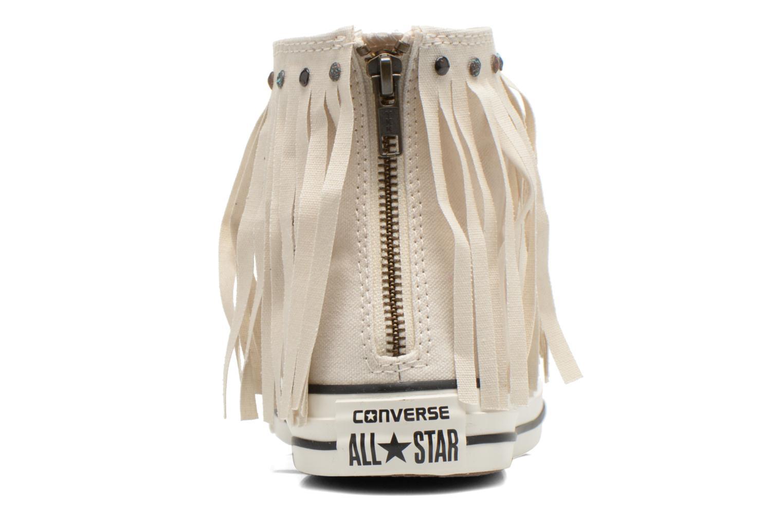 Sneaker Converse Chuck Taylor All Star Fringe Hi W beige ansicht von rechts