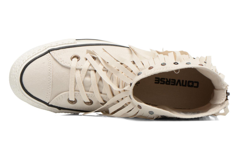 Sneaker Converse Chuck Taylor All Star Fringe Hi W beige ansicht von links
