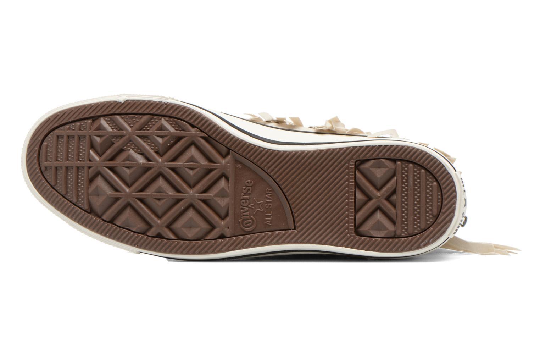 Sneaker Converse Chuck Taylor All Star Fringe Hi W beige ansicht von oben