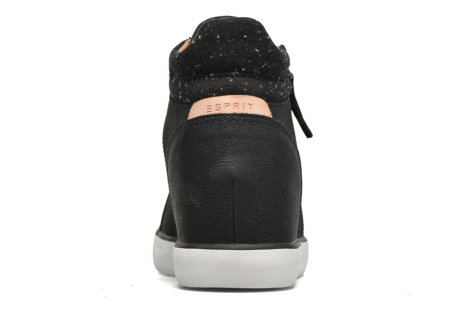 Trainers Esprit Star Wedge 2 Black view from the right