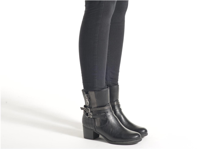 Bottines et boots Marco Tozzi Limba Noir vue bas / vue portée sac