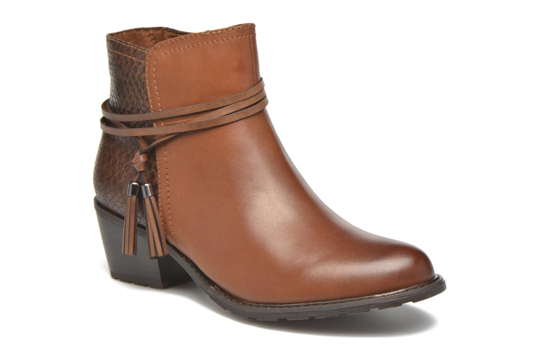 Bottines et boots Marco Tozzi Bonite Marron vue détail/paire