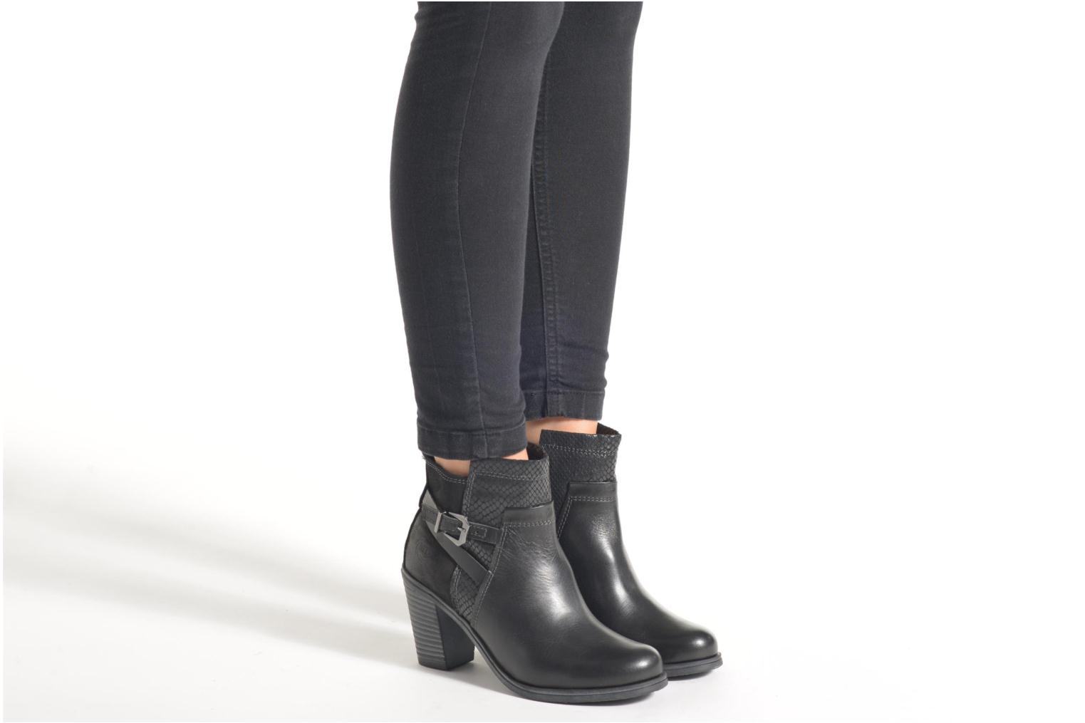 Ankle boots Marco Tozzi Blade Black view from underneath / model view