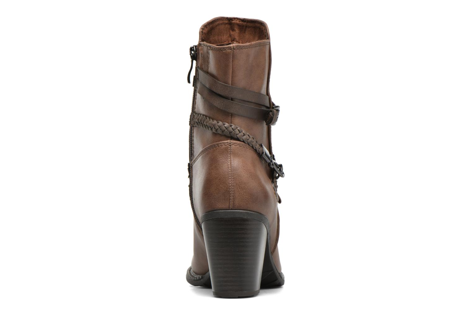 Ankle boots Marco Tozzi Julienne Brown view from the right