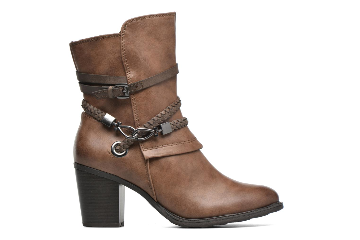 Ankle boots Marco Tozzi Julienne Brown back view