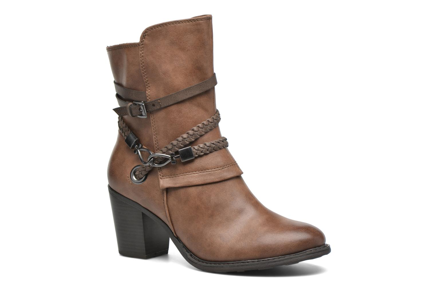 Ankle boots Marco Tozzi Julienne Brown detailed view/ Pair view