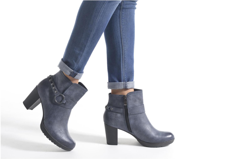 Bottines et boots Marco Tozzi Loubine Bleu vue bas / vue portée sac