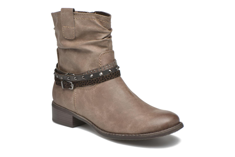 Bottines et boots Marco Tozzi Meunier Marron vue détail/paire