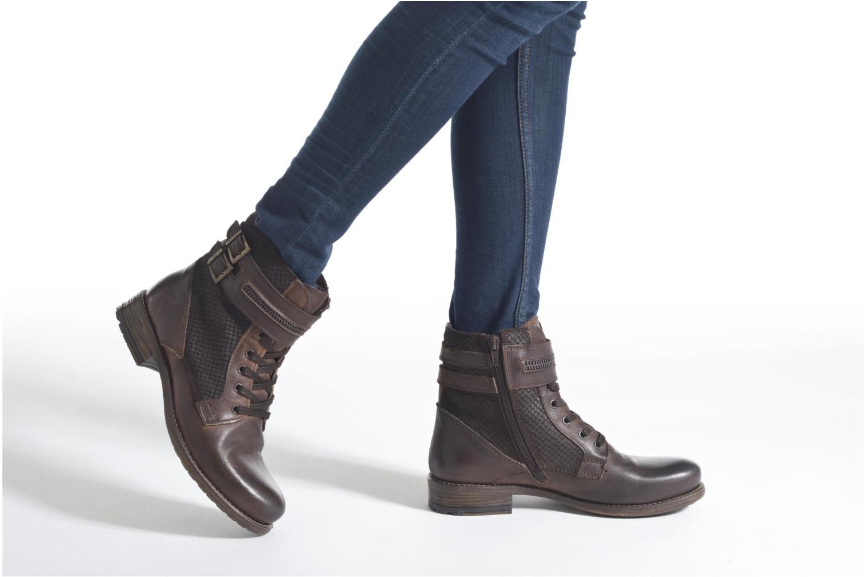 Stiefeletten & Boots Marco Tozzi Rondin braun ansicht von unten / tasche getragen