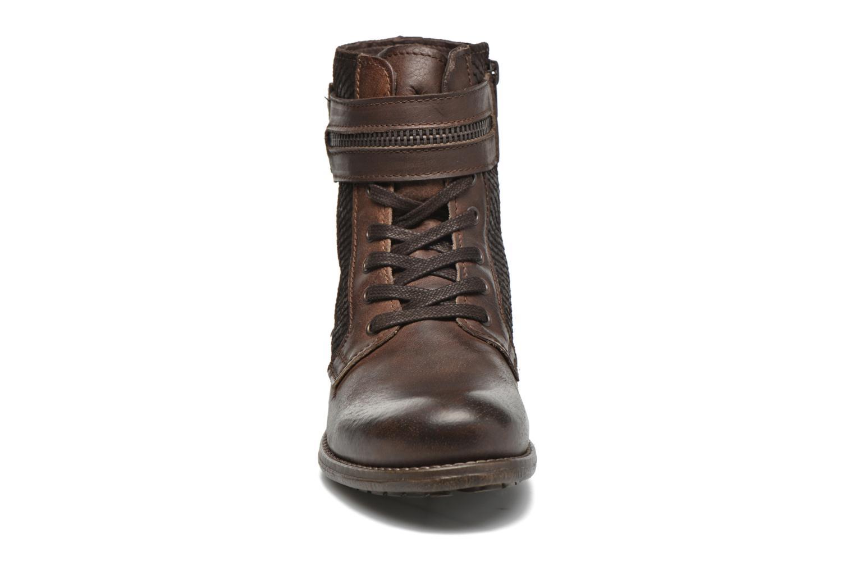 Bottines et boots Marco Tozzi Rondin Marron vue portées chaussures