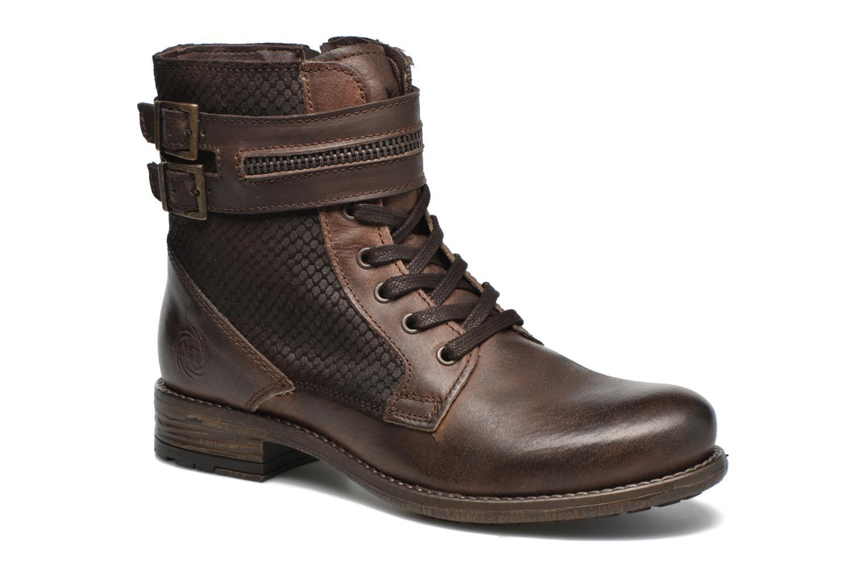 Bottines et boots Marco Tozzi Rondin Marron vue détail/paire