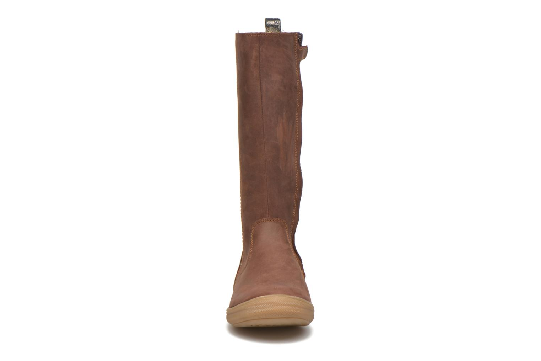 Stiefel Minibel Hagiseleh braun schuhe getragen