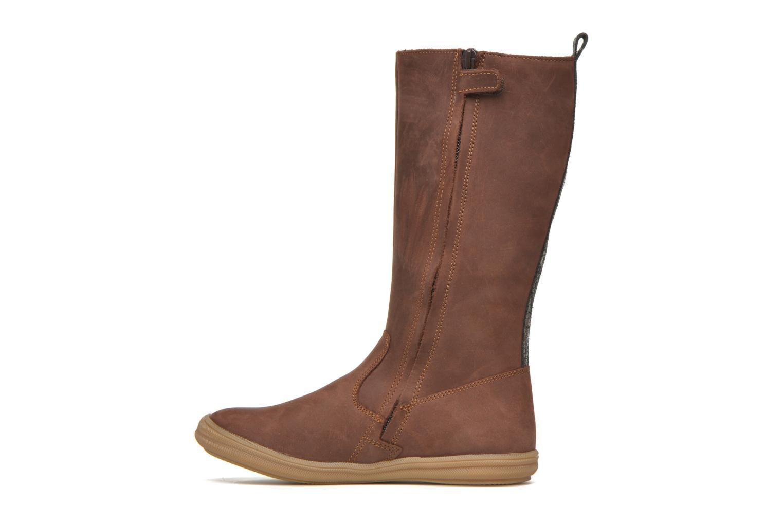 Stiefel Minibel Hagiseleh braun ansicht von vorne
