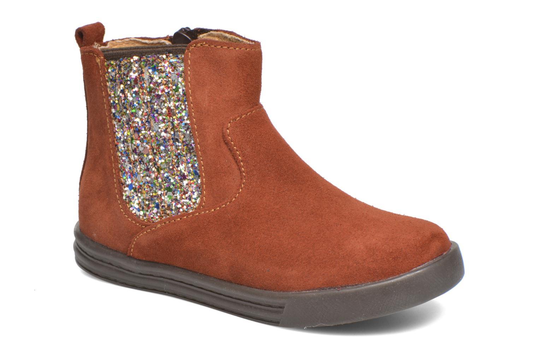 Ankelstøvler Minibel Laura Brun detaljeret billede af skoene