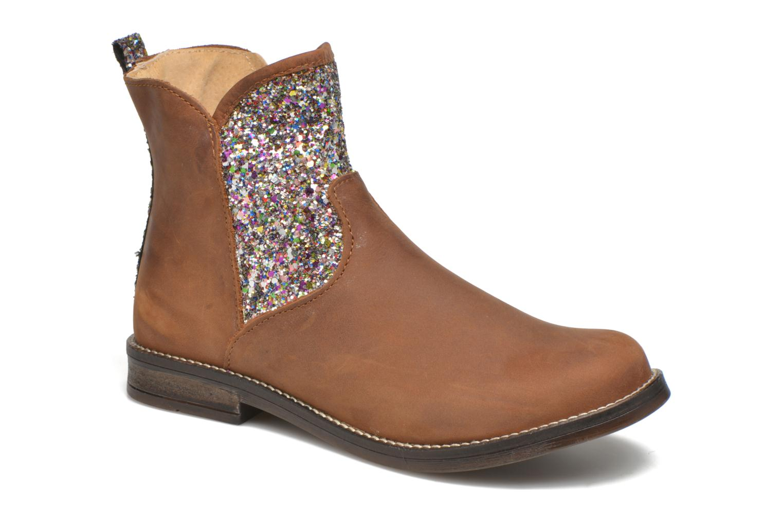 Bottines et boots Minibel Lunela Marron vue détail/paire