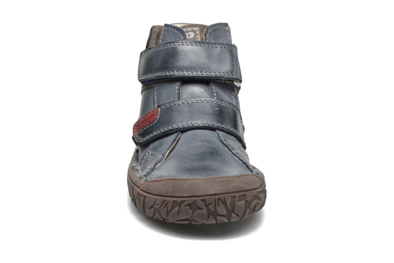 Chaussures à scratch Noël Nino2 Bleu vue portées chaussures