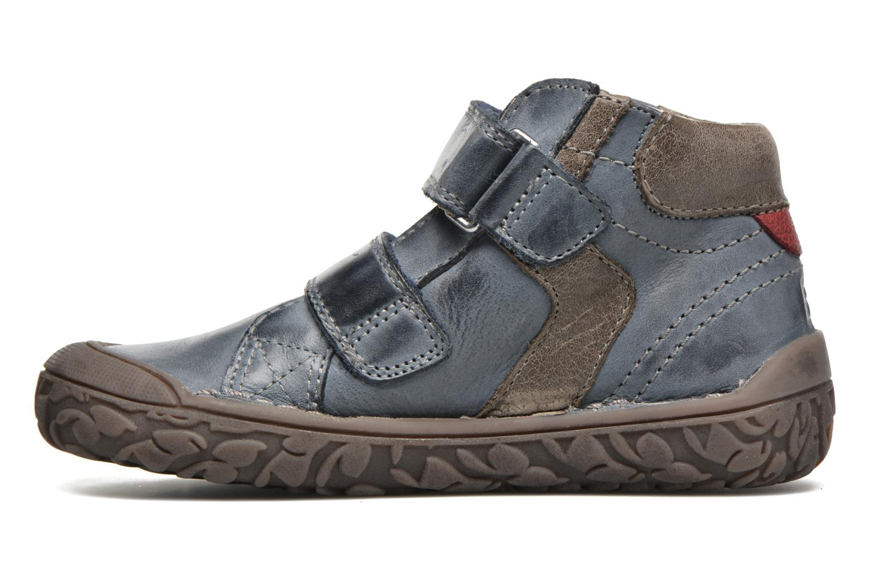 Chaussures à scratch Noël Nino2 Bleu vue face