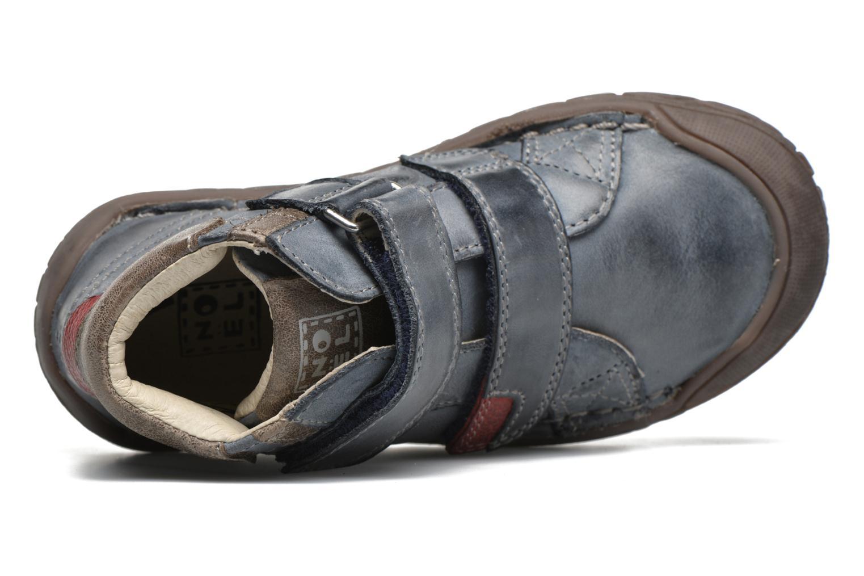 Chaussures à scratch Noël Nino2 Bleu vue gauche