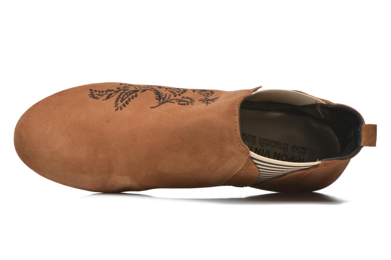 Bottines et boots Ippon Vintage Patch folk Marron vue gauche