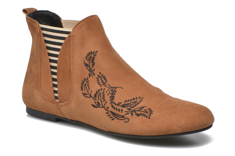 Bottines et boots Ippon Vintage Patch folk Marron vue détail/paire