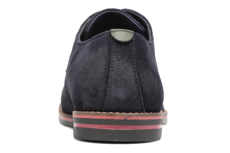 Zapatos con cordones Kickers Eldan Azul vista lateral derecha
