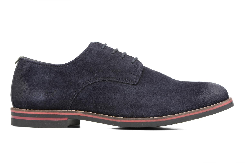 Zapatos con cordones Kickers Eldan Azul vistra trasera