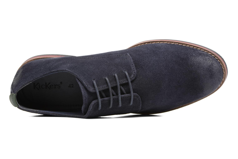 Zapatos con cordones Kickers Eldan Azul vista lateral izquierda