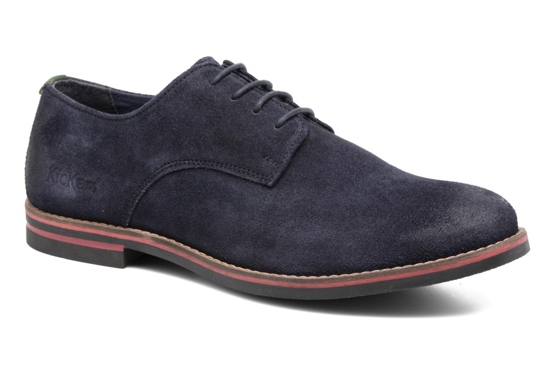 Zapatos con cordones Kickers Eldan Azul vista de detalle / par