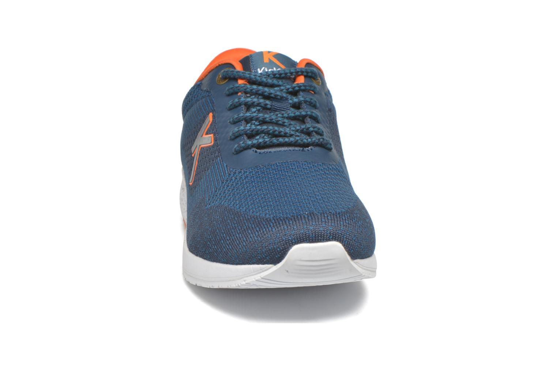 Sneaker Kickers Knitwear blau schuhe getragen