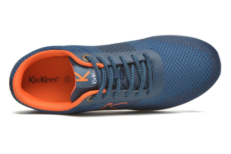 Sneaker Kickers Knitwear blau ansicht von links