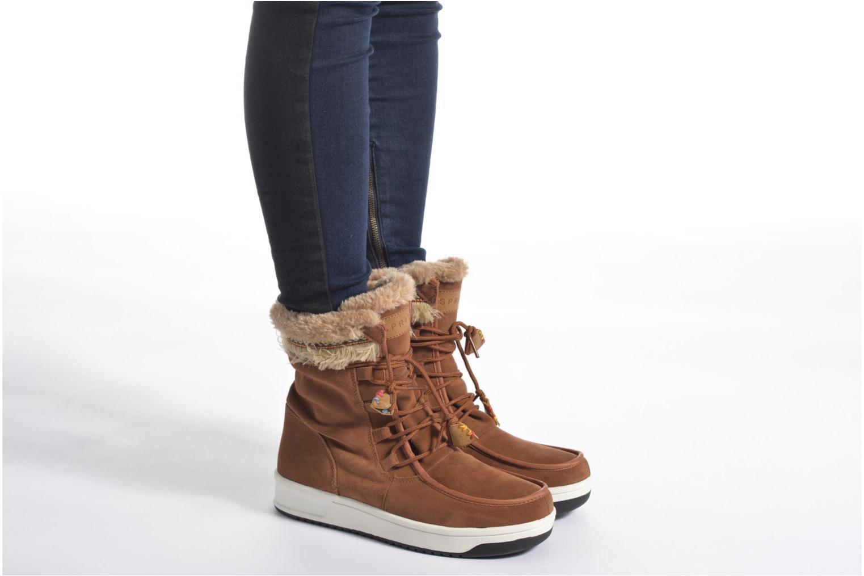 Stiefeletten & Boots Esprit Ducky LU Bootie braun ansicht von unten / tasche getragen
