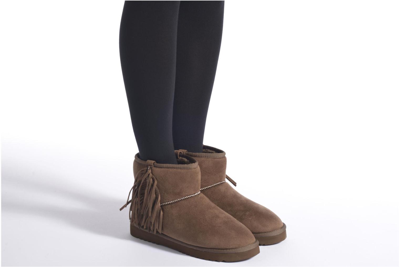 Bottines et boots Esprit Uma Fringes Noir vue bas / vue portée sac