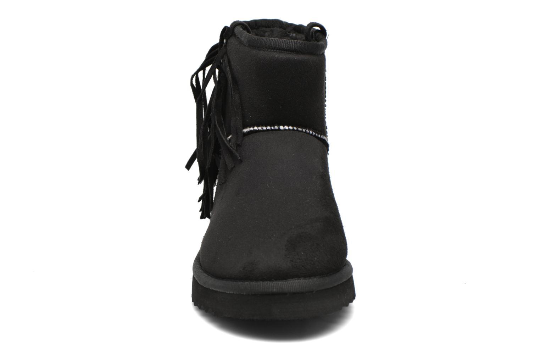 Bottines et boots Esprit Uma Fringes Noir vue portées chaussures