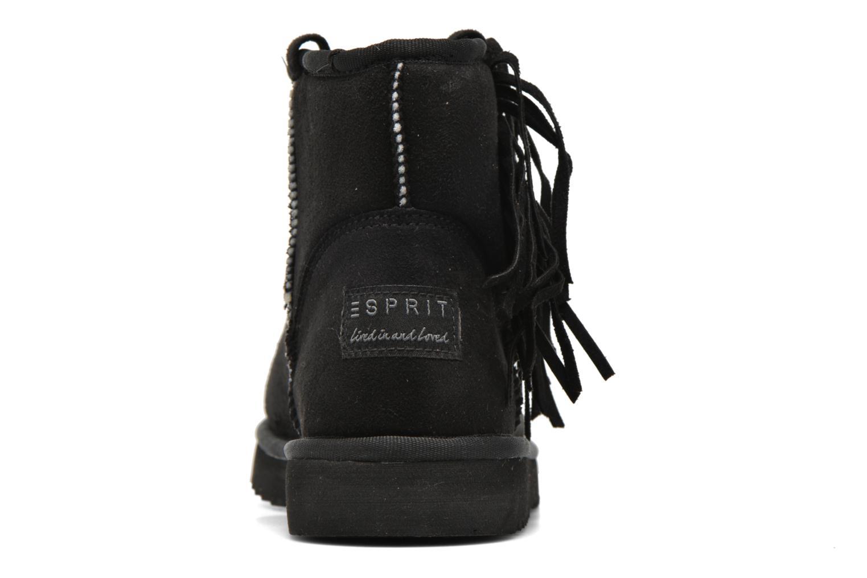 Bottines et boots Esprit Uma Fringes Noir vue droite