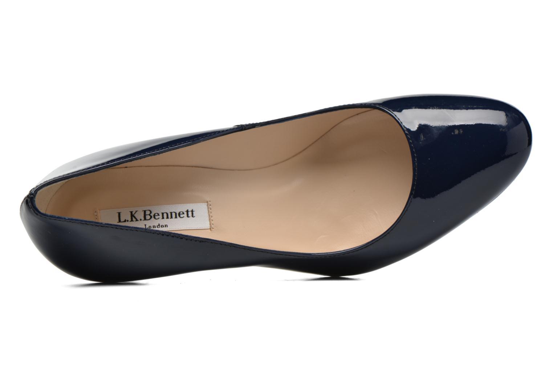 Zapatos de tacón L.K. Bennett Sasha Azul vista lateral izquierda