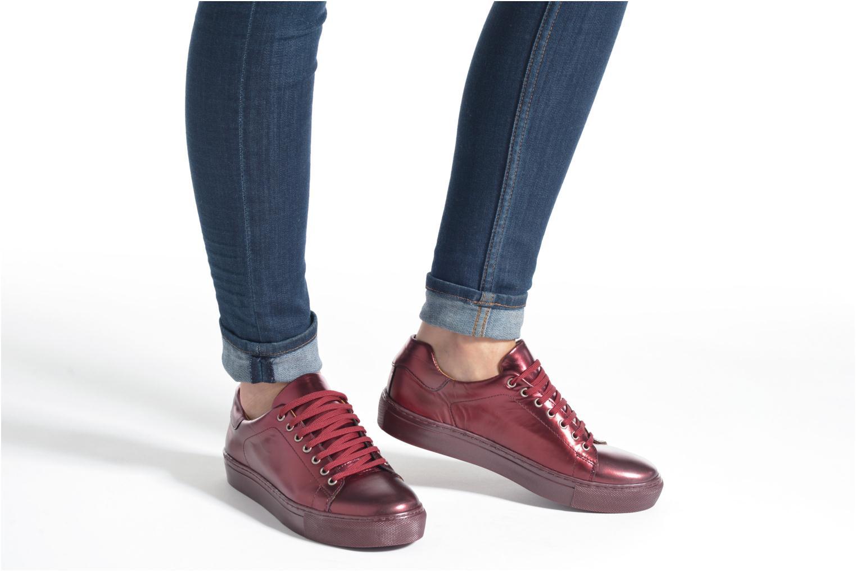 Sneaker Made by SARENZA Sugar Shoegar #8 rot ansicht von unten / tasche getragen