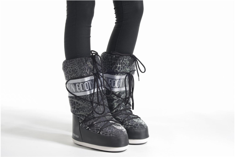 Chaussures de sport Moon Boot Sunset Noir vue bas / vue portée sac