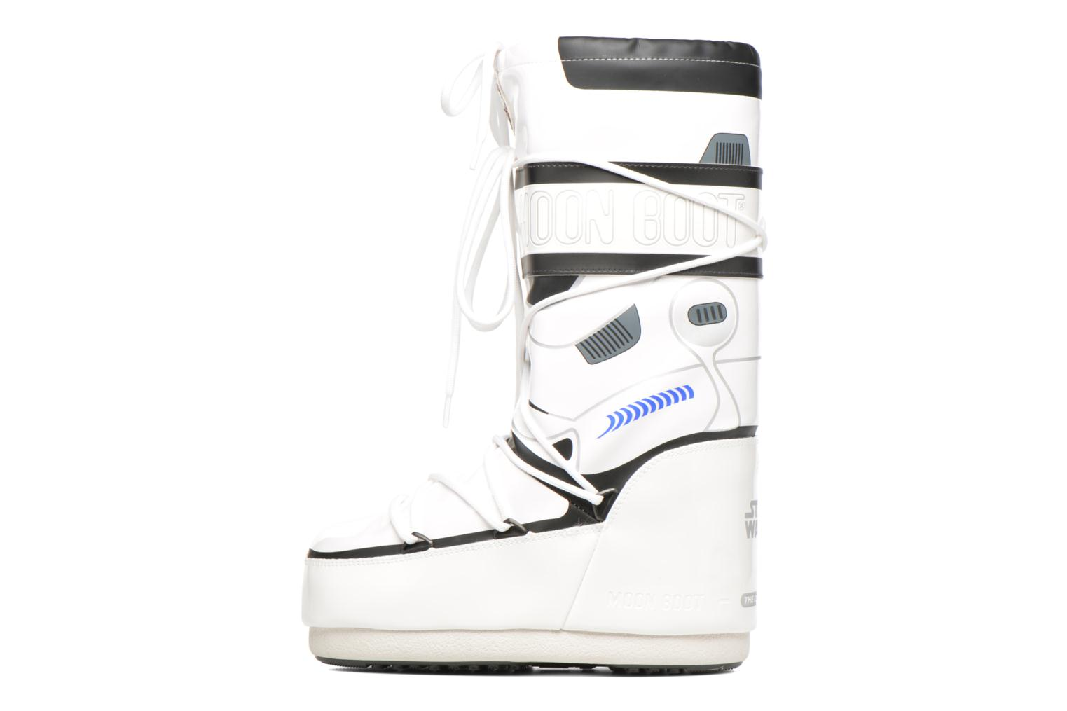 Bottes Moon Boot Moon Boot Star wars Stormtrooper Blanc vue face