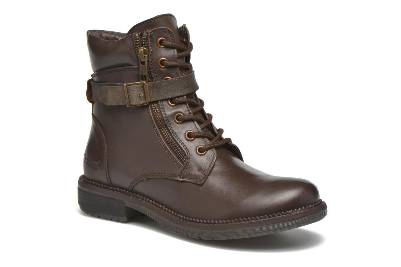 Bottines et boots Kickers Motowell Marron vue détail/paire