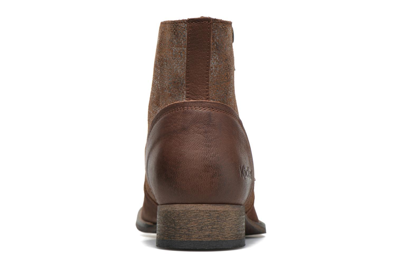 Bottines et boots Kickers Penny Marron vue droite