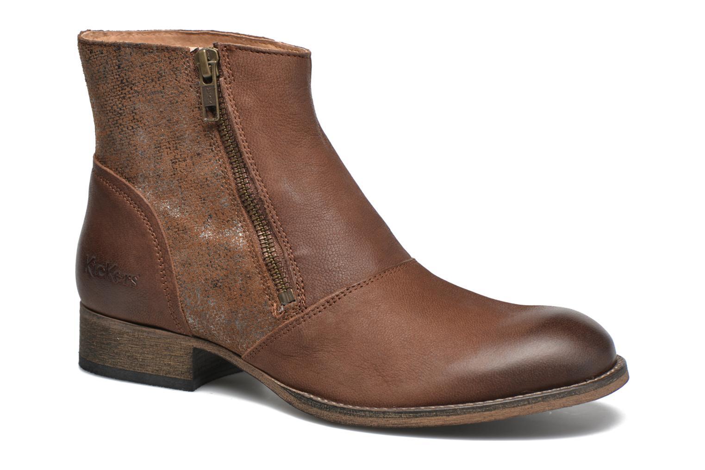 Bottines et boots Kickers Penny Marron vue détail/paire