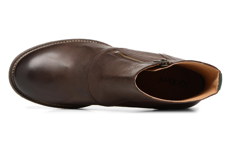 Bottines et boots Kickers Penny Marron vue gauche